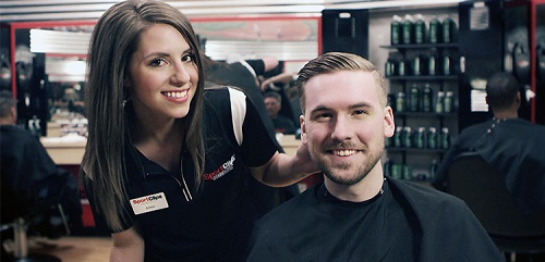 Sport Clips Haircuts of Village West Shopping Center​ stylist hair cut